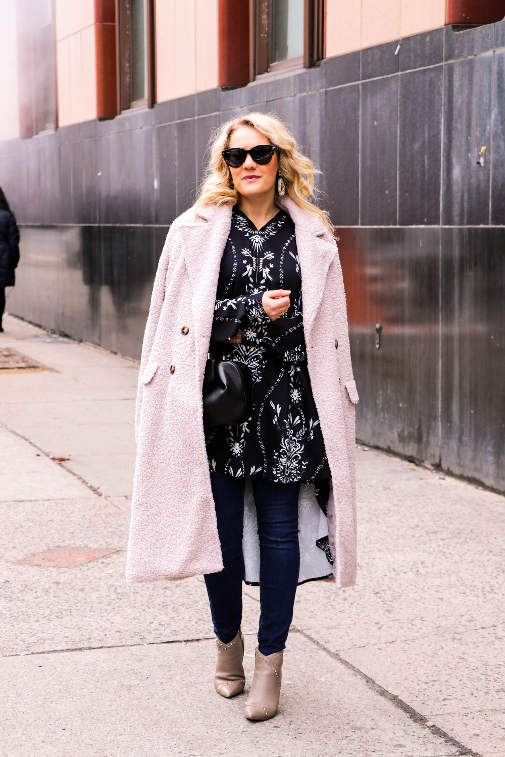 NYFW Street Style Wearing Ruti, Joe's Jeans, Mark Fisher, Gabriella Hearst and a Teddy Coat from VICI. Click on the photo to check out the post! Have Need Want #NYFW #NYFWstreetstyle #streetstyle #Ruti