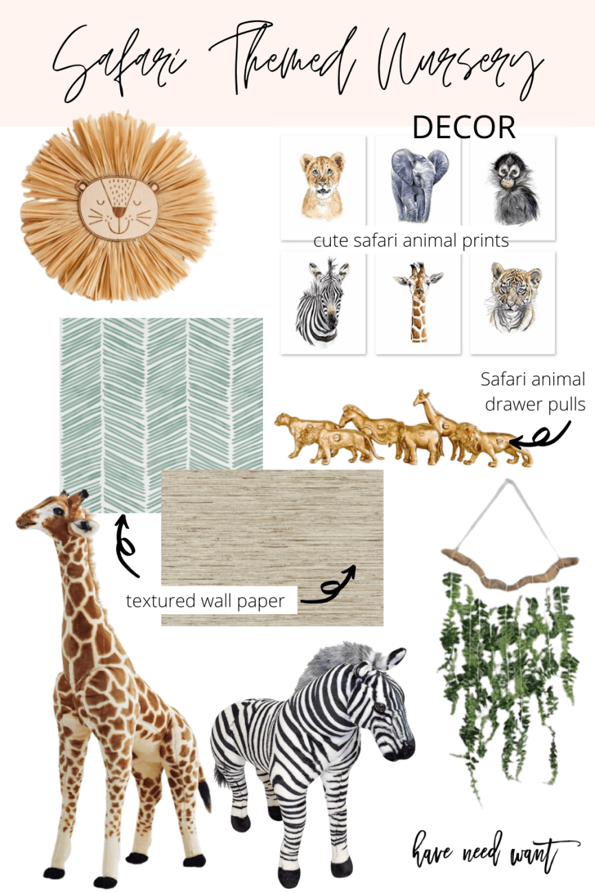 Safari themed nursery/shared kids bedroom decor