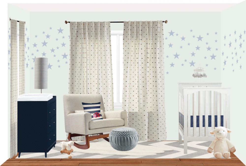 Baby Boy Nursery-Preliminary Design-NousDecor-Mark Cutler