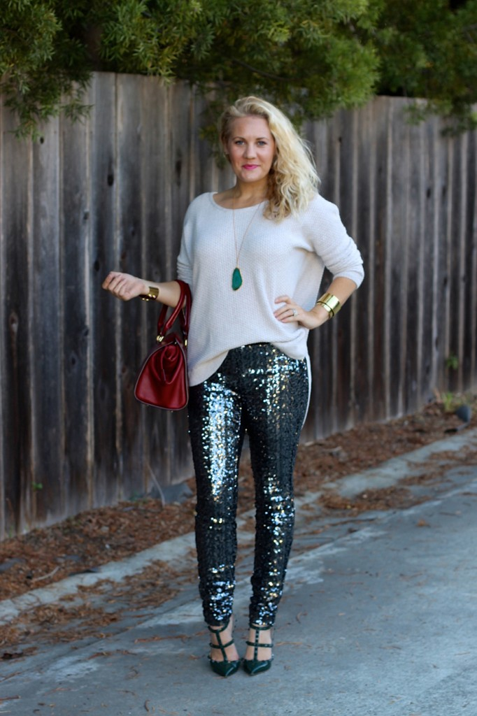 Sequin Pants-Holiday Outfit Inspiration-Have Need Want-Fashion Blogger-BB Dakota-Valentino-Burberry-Bay Area Fashion Blogger 9