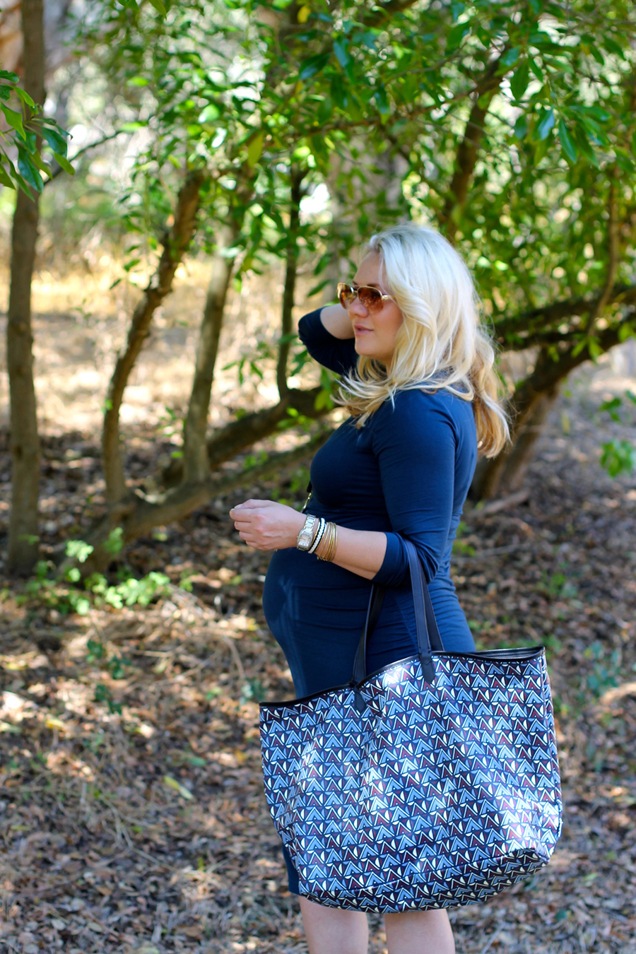Shirred Dress-Maternity Style-Fashion Blogger-Stella & Dot-Fall Style-Pregnancy Style 7