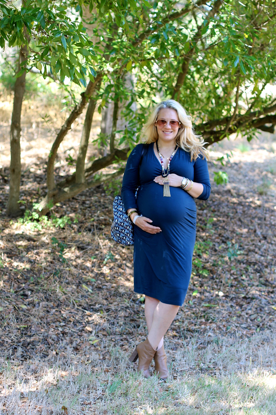 Shirred Dress-Maternity Style-Fashion Blogger-Stella & Dot-Fall Style-Pregnancy Style 9