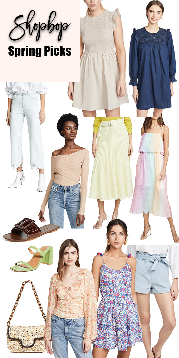 Sharing my top Shopbop spring new arrivals all under $200! #shopbop #springclothing #springdresses #springstyle #springshoppingguide