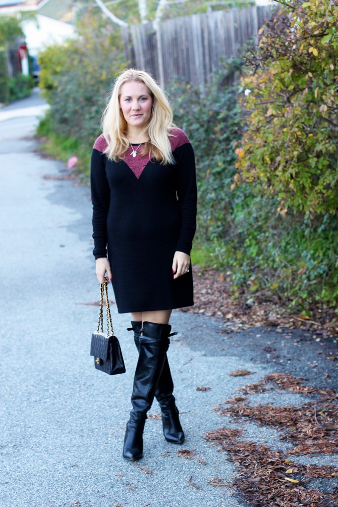 Skunkfunk-Sweater Dress-Bay Area Fashion Blogger-Outfit Inspiration-Sweater Weather-Have Need Want-Chanel Handbag 5