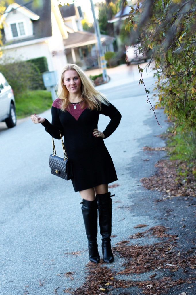 Skunkfunk-Sweater Dress-Bay Area Fashion Blogger-Outfit Inspiration-Sweater Weather-Have Need Want-Chanel Handbag 7