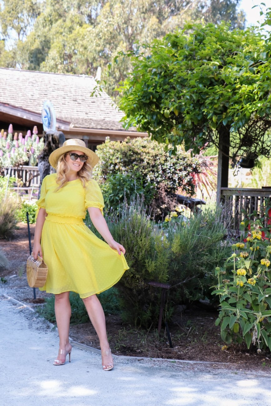 This yellow smocked waist dress screams spring and summer! Sharing this look + more of my favorite Rachel Parcell dresses on Have Need Want. Head over to the blog to read the post and get my outfit details! #springdress #springstyle #yellowdress #smockedwaistdress #rachelparcellcollection #rachelparcell #nordstrom