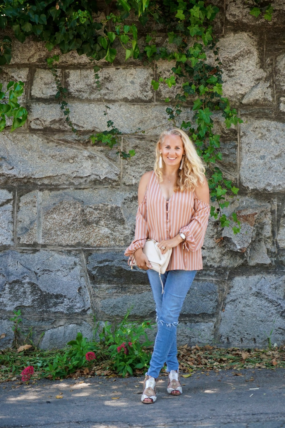 Stripe cold shoulder top-cold shoulder trend-spring style-outfit inspiration-have need want