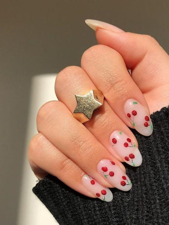 Sweet cherries nail decals