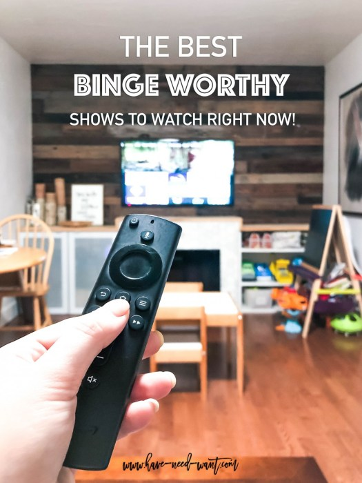 The best binge worthy shows to stream right now and where to get them on Have Need Want! #bingeworthyshows #netflixshows #netflixoriginals #primevideo #hbogo