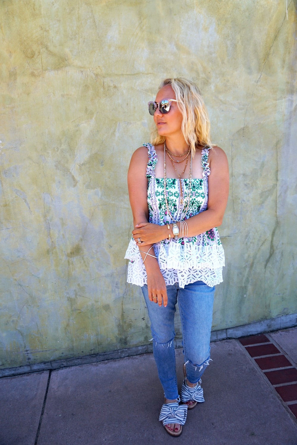 Tiered Babydoll Top-Lace Trim Silk Georgette Top by Tory Burch-Spring Outfit Inspiration-Bay Area Fashion Blogger-Weekend Style-Have Need Want 10