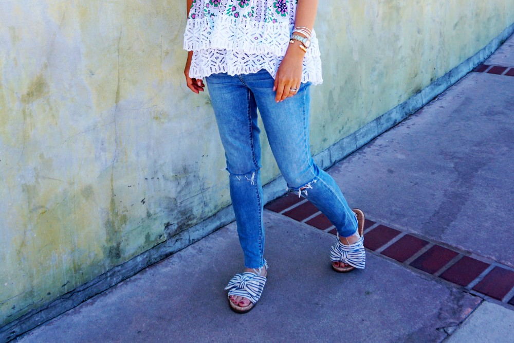 Tiered Babydoll Top-Lace Trim Silk Georgette Top by Tory Burch-Spring Outfit Inspiration-Bay Area Fashion Blogger-Weekend Style-Have Need Want 3