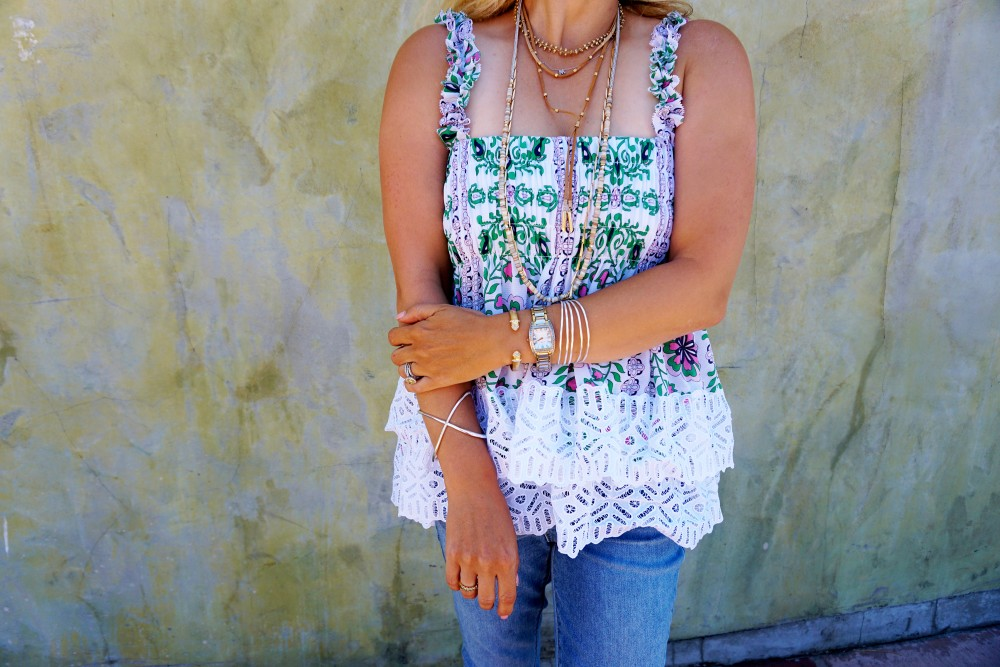 Tiered Babydoll Top-Lace Trim Silk Georgette Top by Tory Burch-Spring Outfit Inspiration-Bay Area Fashion Blogger-Weekend Style-Have Need Want 5