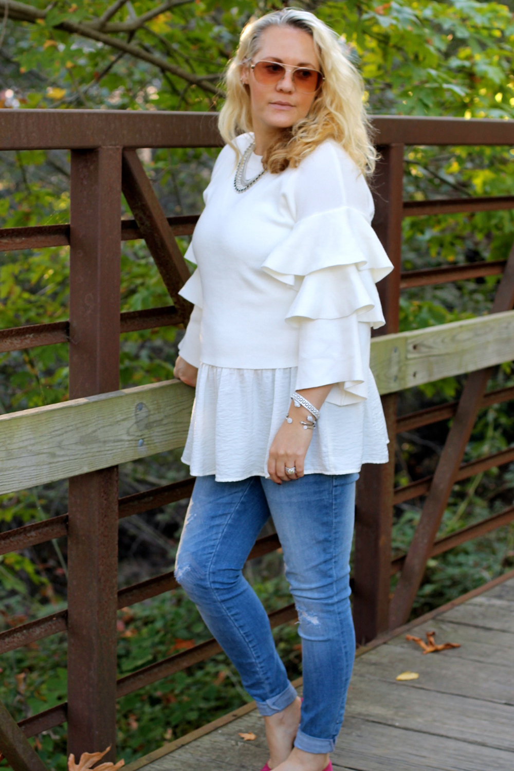tiered-ruffle-sleeve-sweater-outfit-inspiration-fall-fashion-chicwish-sweater-have-need-want-5