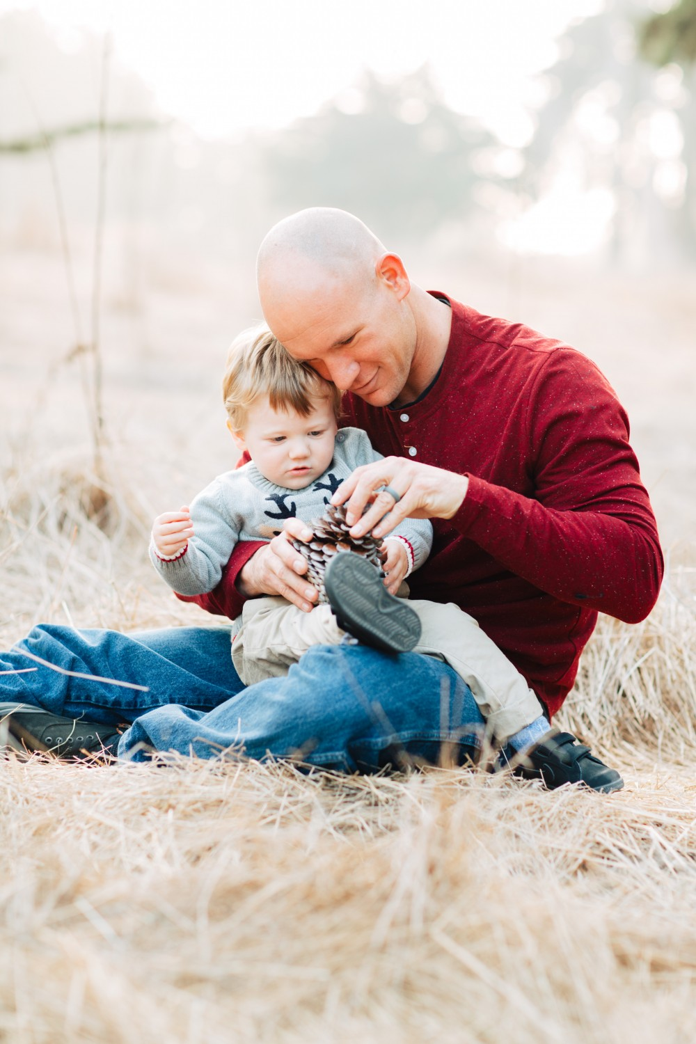 Family Holiday Card Photoshoot with Dad and Son - Have Need Want