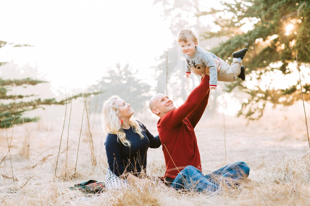 Family Holiday Card Photoshoot with Mom, Dad, and Son - Have Need Want