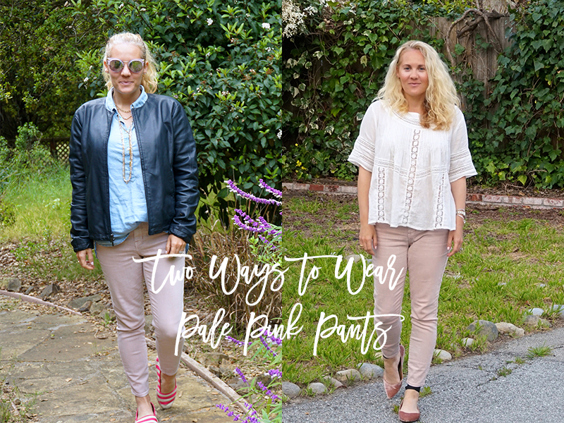 Two Ways to Wear Pale Pink Pants-Outfit Inspiration-Spring Style-Have Need Want
