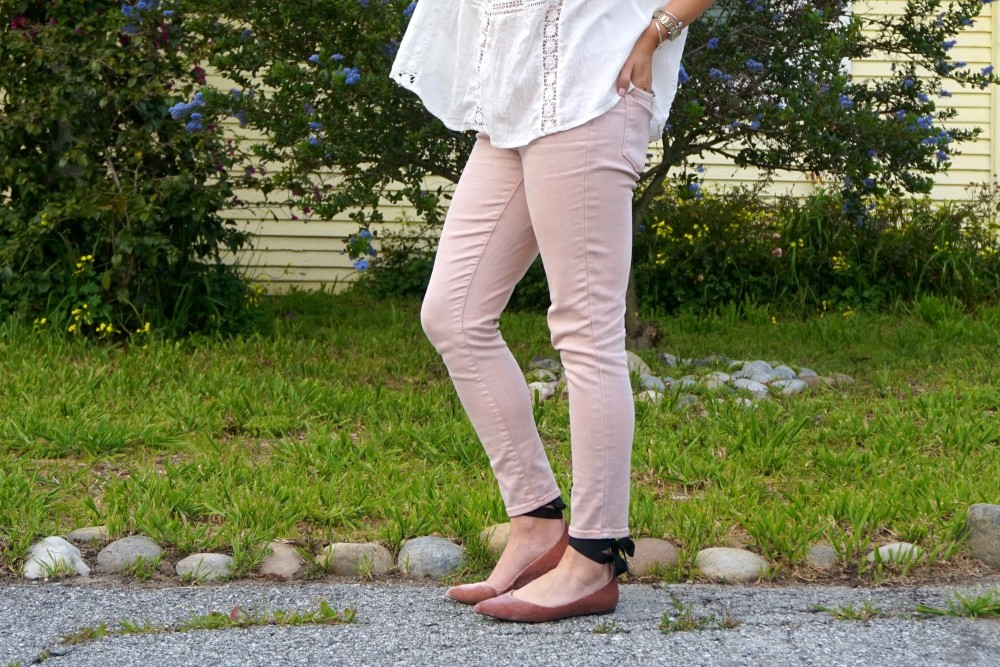 Two Ways to Wear Pale Pink Pants-Target Style-Mossimo Pants-Oufit Inspiration-Spring Style-Have Need Want 2