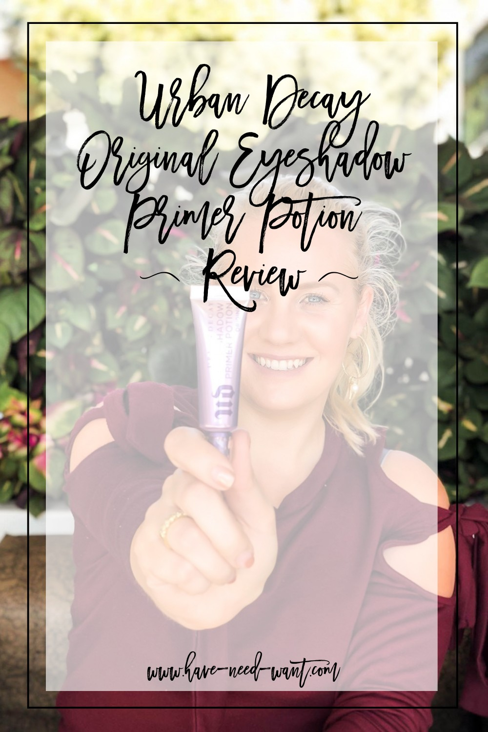 Urban Decay Original Eyeshadow Primer Potion Review. Click on the photo to read the post! | Have Need Want #beautyreview #eyeshadowprimer #urbandecay #urbandecaybeauty #productreview