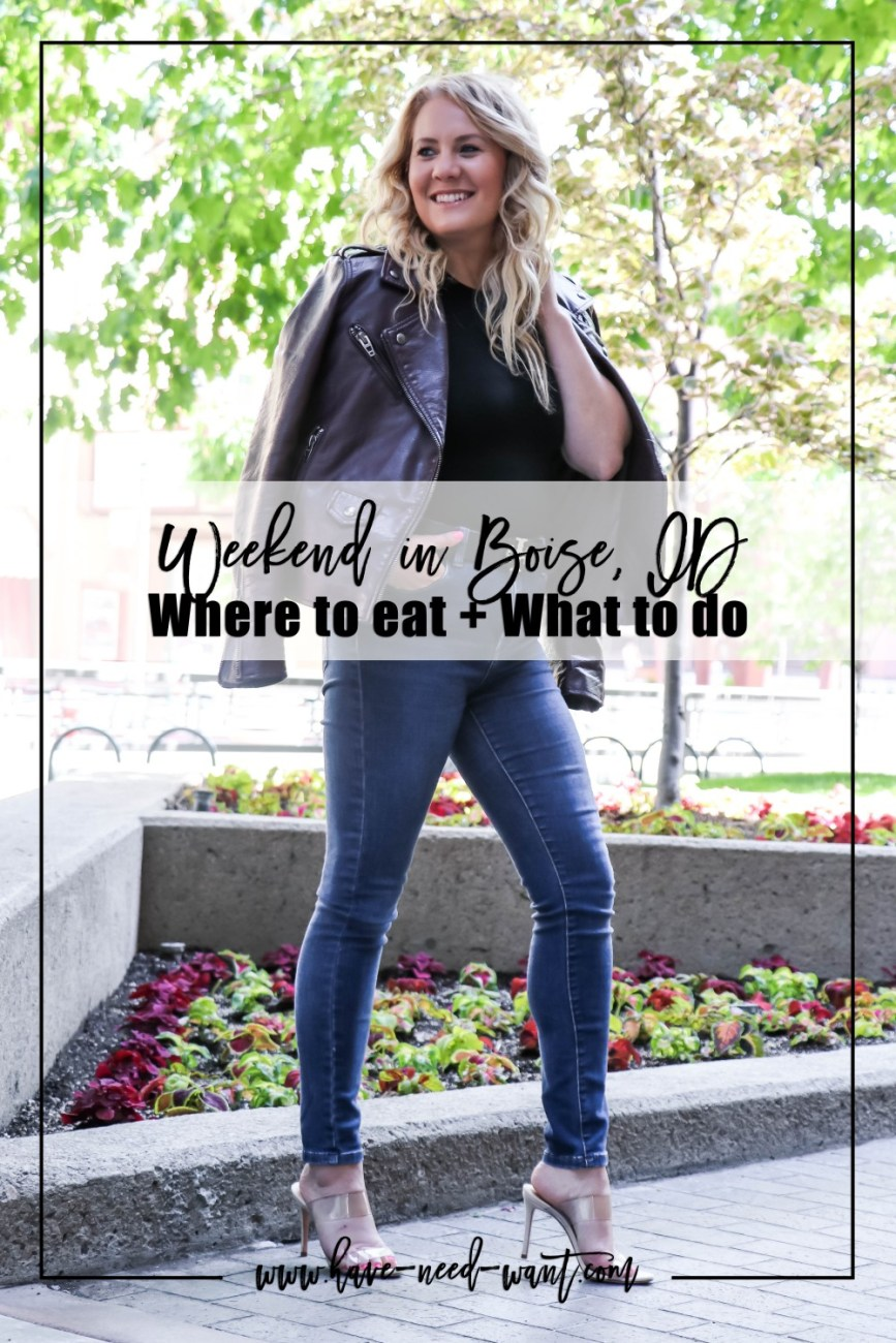 Sharing What to do With a Long Weekend in Boise Idaho on Have Need Want today! Head over to the blog to read where we stayed as well as where we ate! #travelstyle #weekendtrip #boiseidaho #jifutravel