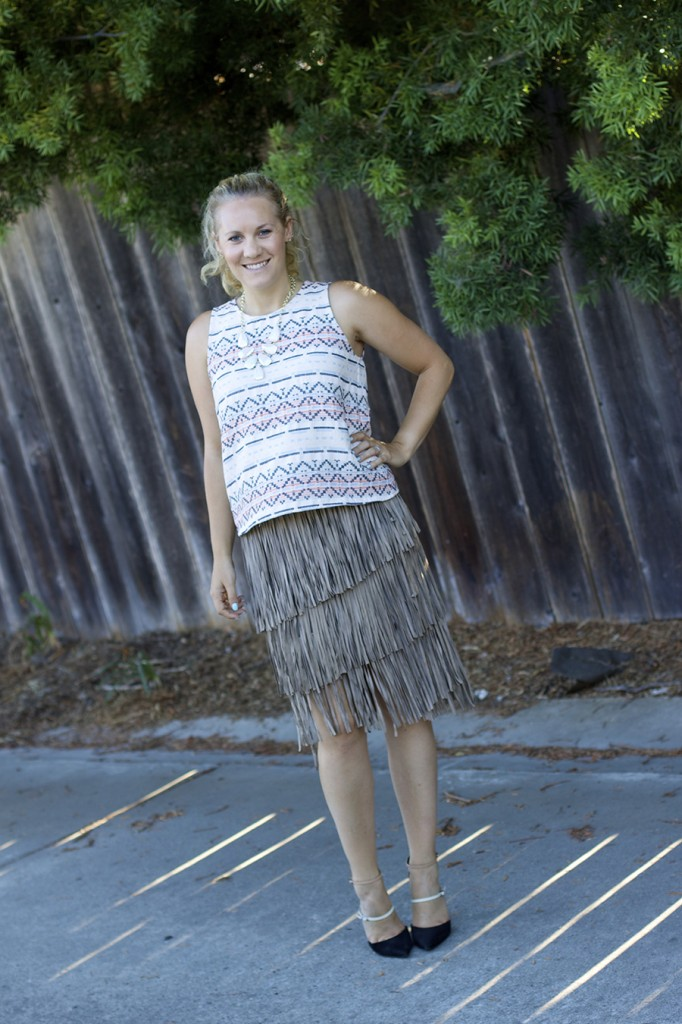 fall 2015 trend finge skirt fringe friday outfit inspiration aztec top matison stone neiman marcus fashion blogger 9