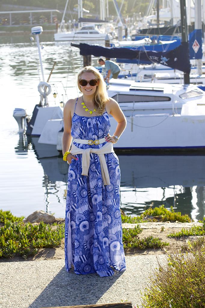 maxi dress three ways, style guide, banana republic, marimekko