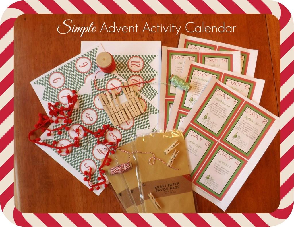 Simple Advent Activity Calendar