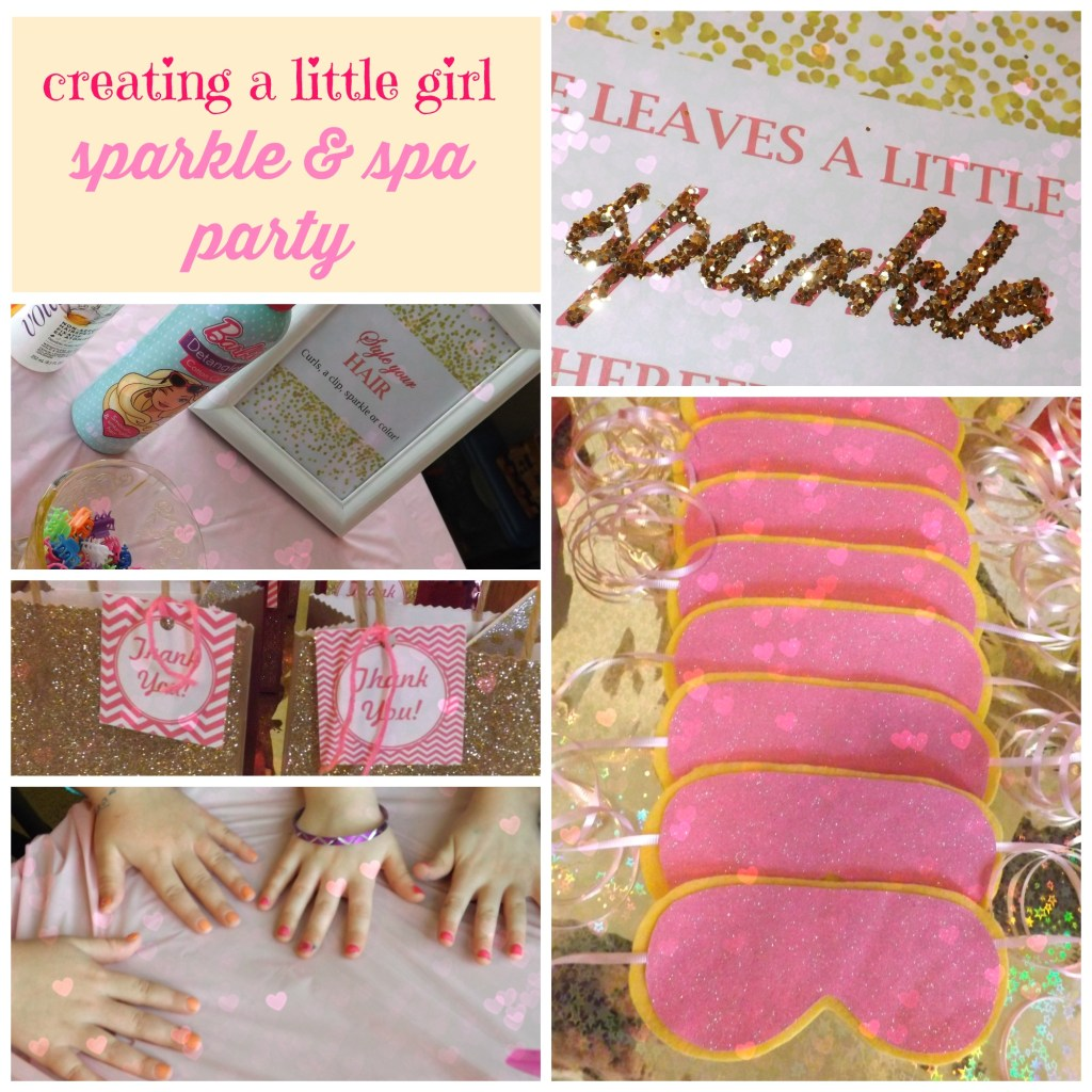 Creating a Little Girl Sparkle & Spa Party