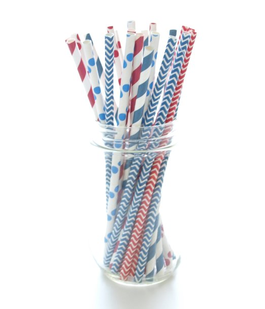 4th of July party straws_Amazon