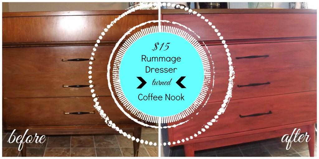 Rummage Dresser turned Coffee Nook