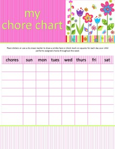 girl chore chart_flowers_blank chores