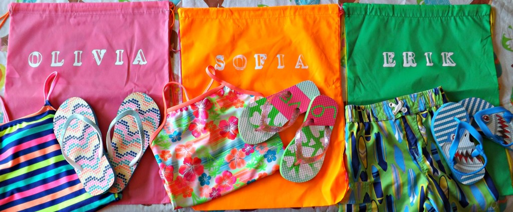 Personalized Dollar Store Beach Bags