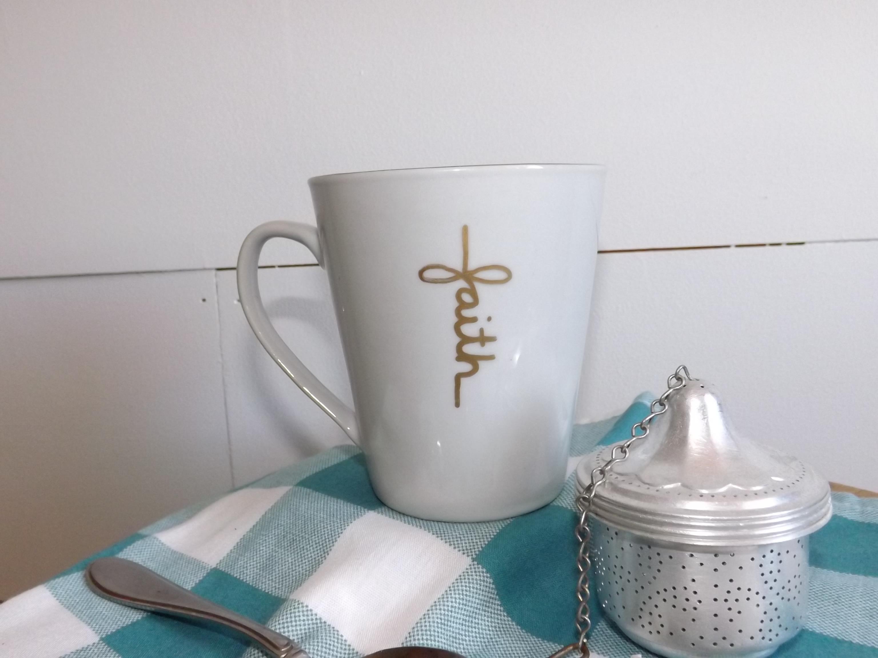 Faith cross mugs