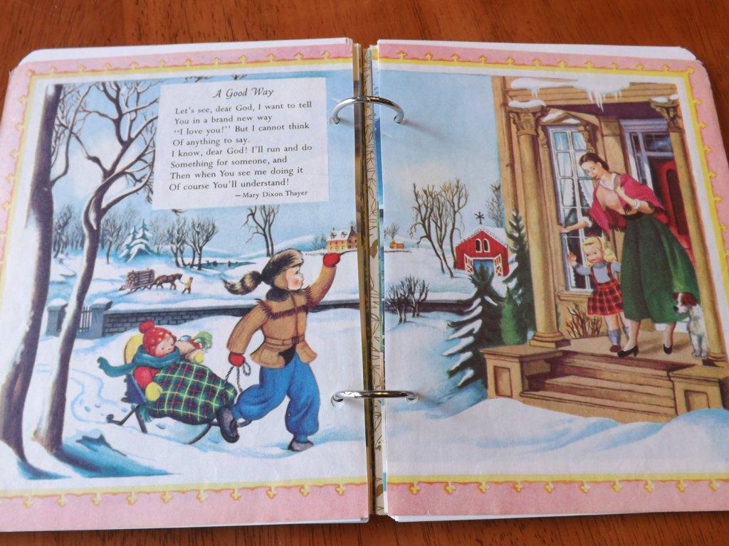 Prayers for Children Upcycled Little Golden Book Journal
