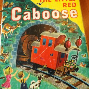 The Little Red Caboose Upcycled Little Golden Book Journal
