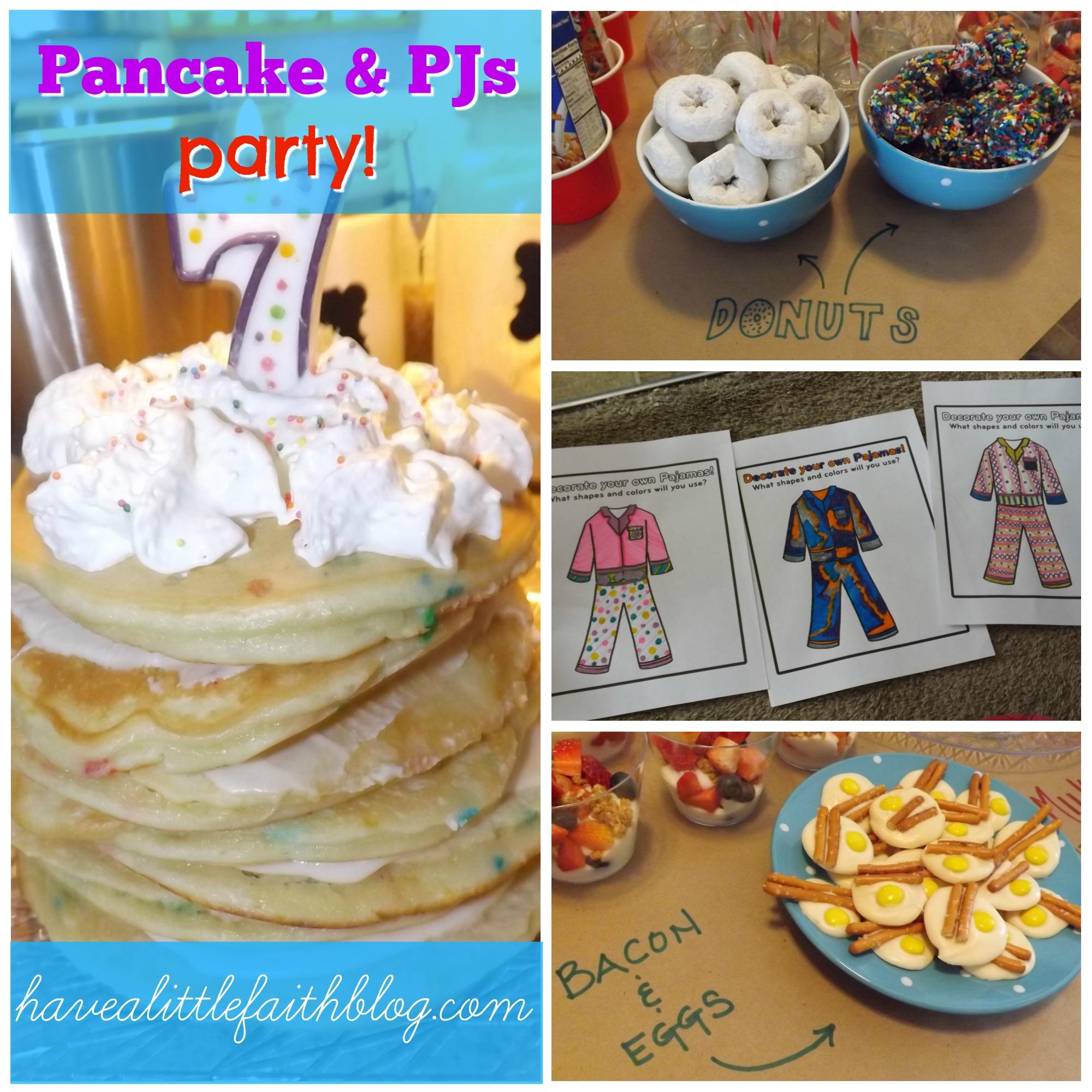 Pancake Pajama Party Have a Little Faith Blog Shop