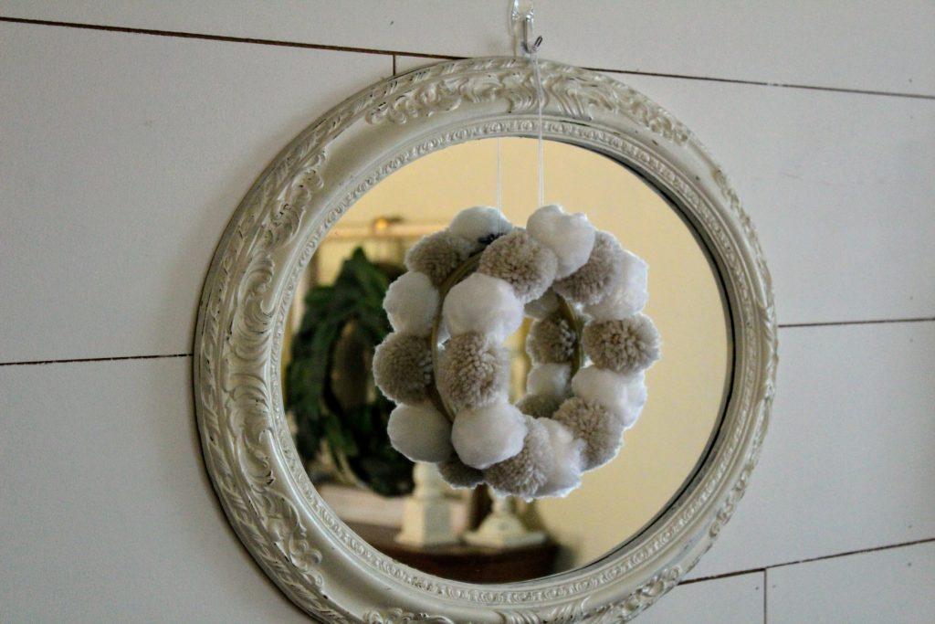 Winter Pom Pom Wreath Craft