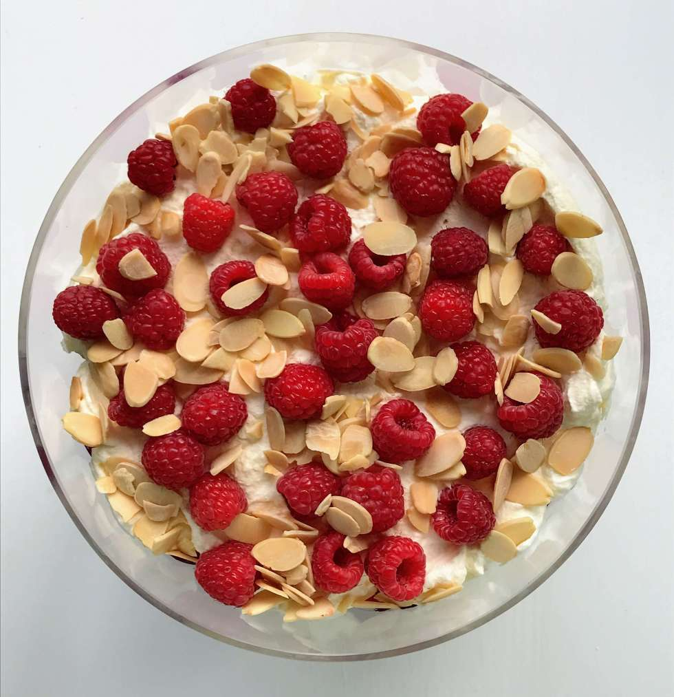Keto Raspberry Trifle Recipe- Christmas essentials - Have Butter will travel