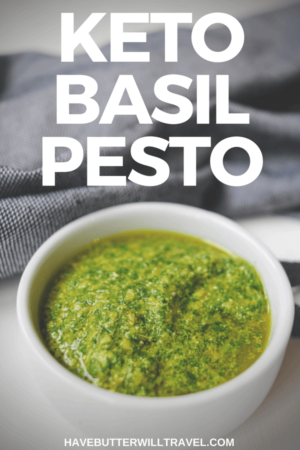 Keto pesto is so quick and easy to make at home, you won't bother with the store bought option again. Great to toss through zoodles for a low carb meal.