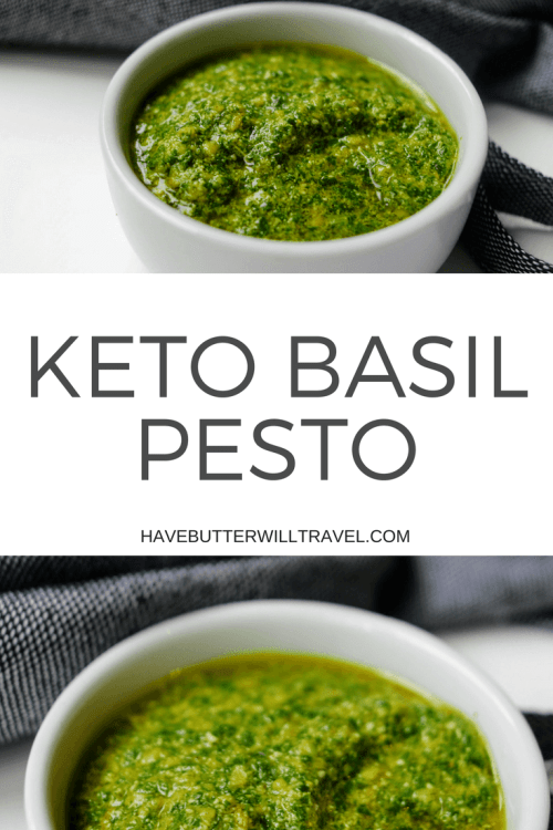 It can be difficult to find a pesto in the supermarket that does not contain undesirable ingredients, like vegetable oils. Making your own pesto is so quick and easy and the end result is delicious! Try our keto basil pesto recipe today and you will not be disappointed.