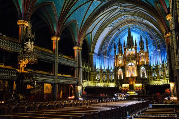 Old Montreal S Notre Dame Basilica Montreal Canada