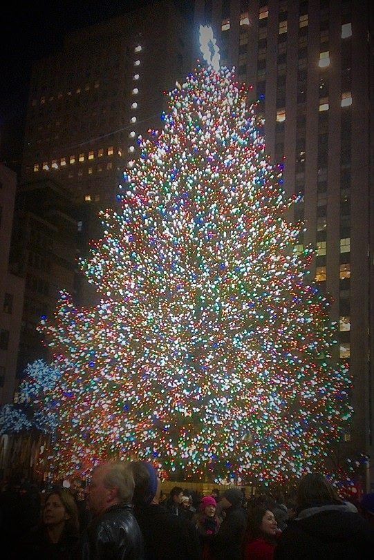 NYC at christmas with young kids rockefeller tree