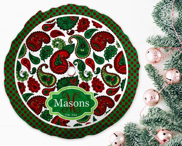 Paisley Christmas Tree Skirt