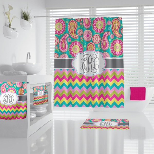 Paisley & Chevron Multi Bathroom Accessories