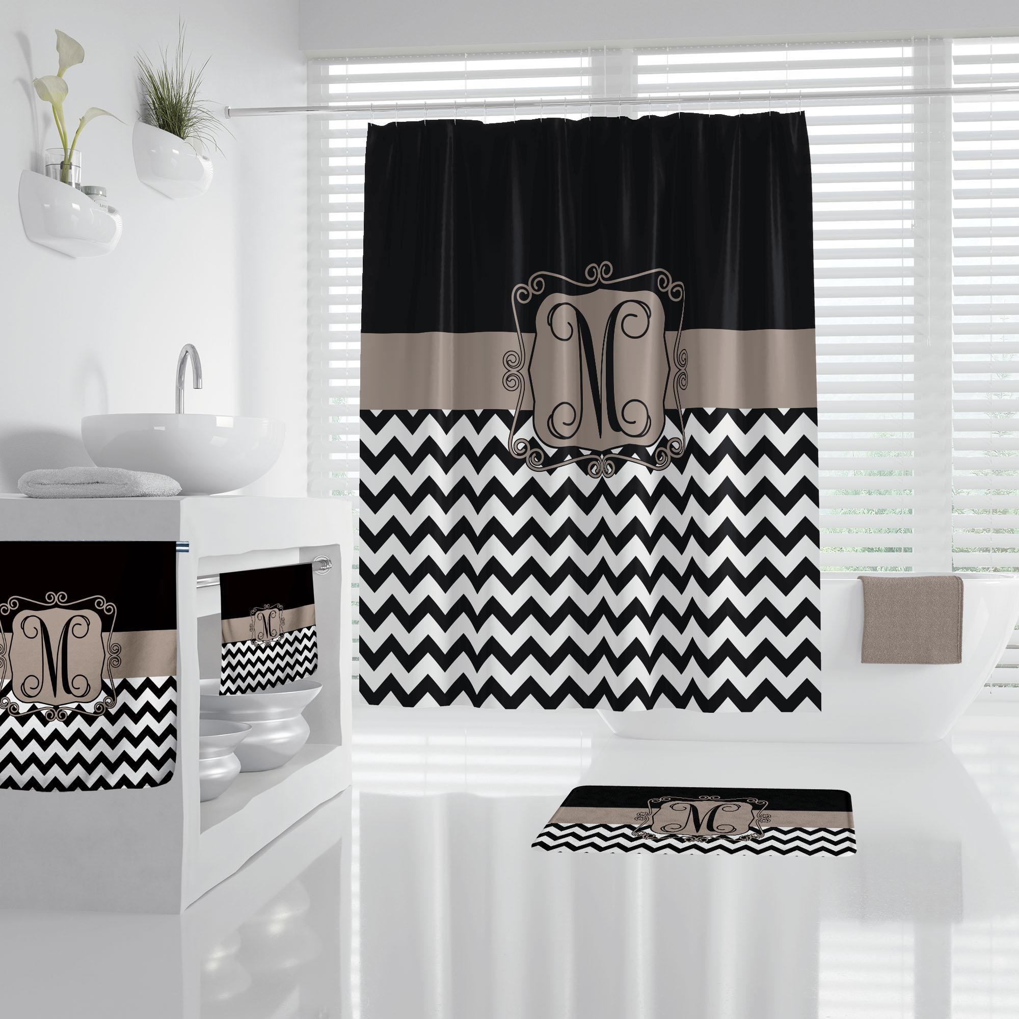 Taupe Bathroom Accessories, Chevron Bathroom Accessories
