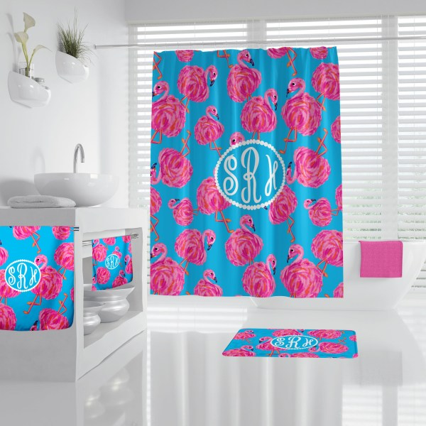 Lilly Inspired Flamingo Bathroom Accessories