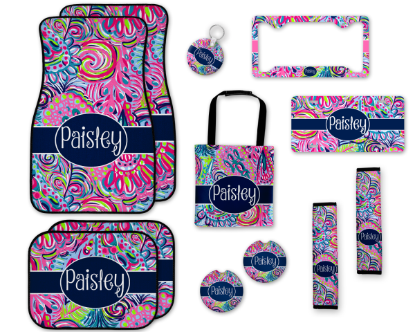 Lilly Pulitzer Inspired Psychedelic Car Accessories