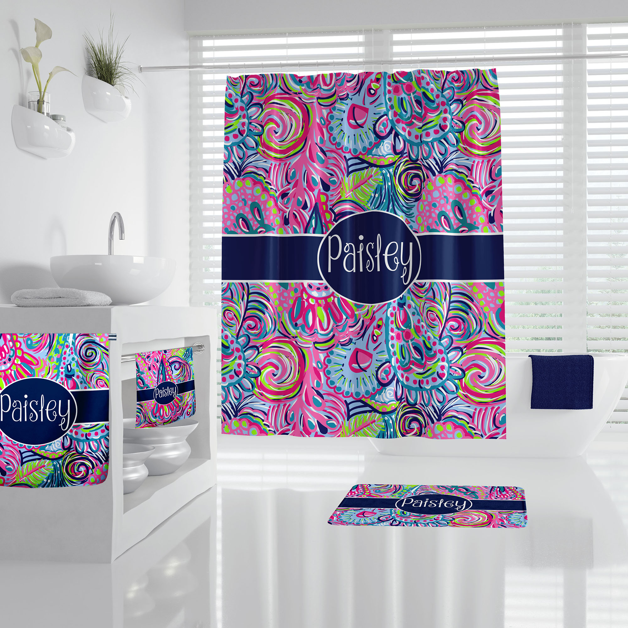 Lilly Pulitzer Inspired Psychedelic, Lilly Pulitzer Bathroom