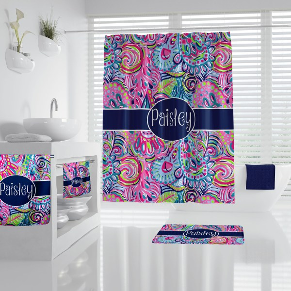Lilly Pulitzer Inspired Psychedelic Bathroom Accessories