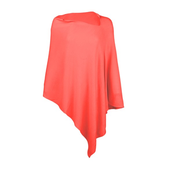 Chelsea Poncho - Coral