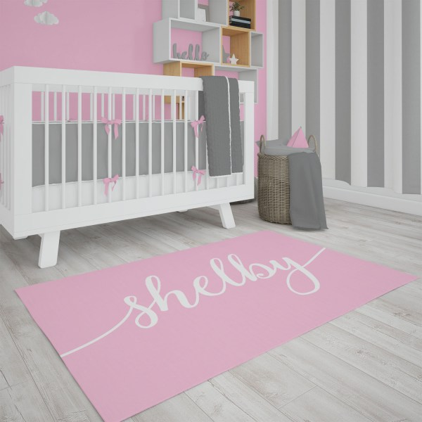 Solid Pink Area Rug